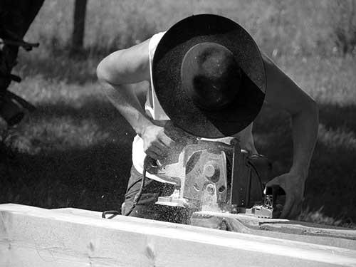 Handwerker (Zimmermann) im Oderbruch