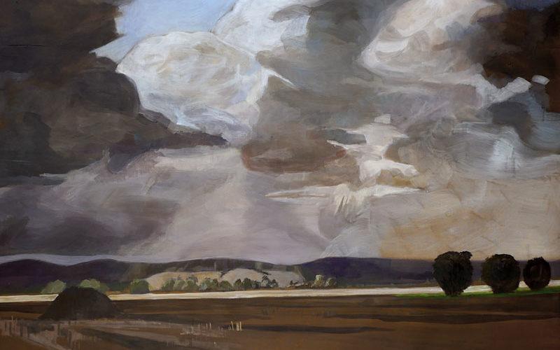 Gemälde auf dem geschlossenen Schrank von Antje Schiffers